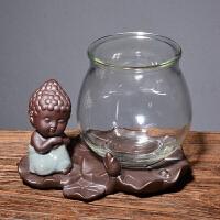 水培绿萝花瓶简约创意玻璃水培植物花盆透明风信子 观音竹插花瓶 中等