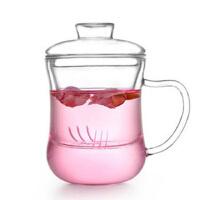 耐热玻璃茶杯 运动矿泉水瓶 过滤内胆水杯 办公杯带盖泡茶车载杯子 玻璃水壶 凉水壶 玻璃杯