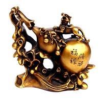 铜葫芦摆件貔貅葫芦招财纳福镇宅家居办公室工艺品摆件 黄色