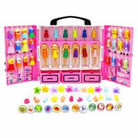 迷你梦幻衣橱套装女孩娃娃服饰换装礼盒玩具配件公主衣服36套 DTC36迷你芭比梦幻衣橱 DTC36芭比迷你梦幻衣橱(含