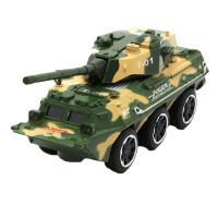 合金装甲车 儿童军事火箭炮战车 发射大炮车 野战军车 回力合金车模型玩具车
