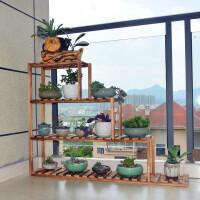 简约现代铁艺实木花架多层室内装饰 室内花盆植物架飘窗多肉架落地省空间