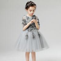 儿童礼服公主裙蓬蓬纱长袖钢琴演出服