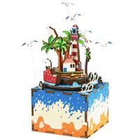 robotime若态 AM407 八音盒.3D木质DIY拼装模型.情迷海岛当当自营
