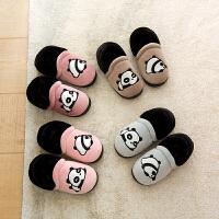 儿童棉拖鞋秋冬男童软底室内防滑女宝宝拖鞋小童1-3岁5幼儿家居鞋