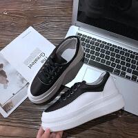 厚底内增高小白鞋女秋季2018新款百搭韩版松糕鞋女西班牙小众鞋子