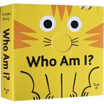 英文原版绘本 Who Am I 纸板操作书 拉拉书 幼儿启蒙认知