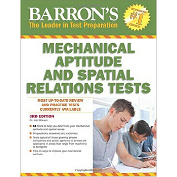 【预订】Barron's Mechanical Aptitude and Spatial Relations Test 美国库房发货,通常付款后3-5周到货!