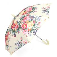 儿童雨伞牡丹花小女孩学生长柄晴雨两用伞雨具