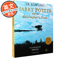 哈利波特与魔法石 英文原版 Harry Potter and the Philosopher's Stone 全彩插图
