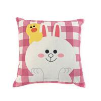 双面北欧韩式枕头棉麻可爱沙发抱枕卡通靠垫汽车腰枕床头飘窗靠枕