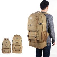 背包男帆布双肩包旅行大容量行李包可扩容旅游多功能户外出差、手提包 大