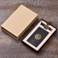 红木制名片夹 黑檀木质商务男女式名片盒U盘 创意套装男士女士