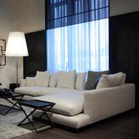 三人位左右贵妃布艺沙发 北欧布艺沙发客厅简约现代大小户型乳胶沙发可拆洗三人位组合贵妃 米白色 1号色