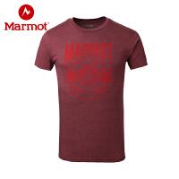 Marmot/土拨鼠春夏新款户外男短袖透气棉质圆领T恤_F900455