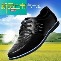 新品上市秋冬季青年男士休闲皮鞋真皮软底6cm隐形内增高韩版商务加绒男鞋