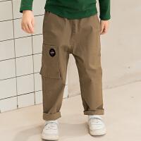 【2件3折后到手价:110.7元】马拉丁童装男童长裤秋装个性口袋设计棉布裤工装裤薄款