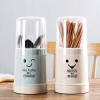 泰蜜熊带盖防尘筷子篓餐具勺子收纳置物架筷篓筷子筒家用筷筒筷笼
