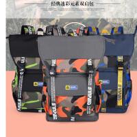 申派 迷彩双肩包 户外旅行包大容量书包女休闲运动包 韩版潮男背包  SP-HB-25