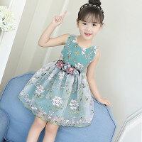 儿童装女童连衣裙夏装公主裙子小孩短袖夏天女孩