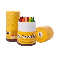 幼儿涂鸦绘画彩色画笔 儿童蜡笔16/24色可水洗宝宝油画棒