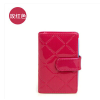 精美卡包   时尚短款银行卡片包     韩国菱格牛皮女士卡包    证件包*盒