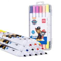 得力70716/70717/70718儿童涂鸦笔软头水彩笔填色笔涂色笔勾线笔双头笔套装