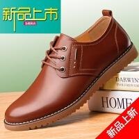 新品上市男士休闲皮鞋真皮透气内增高英伦商务软面皮男鞋春季牛皮韩版鞋子