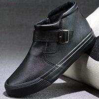 雪地靴男冬季保暖加绒男鞋东北大棉鞋加厚防滑防水二棉鞋棉皮鞋男