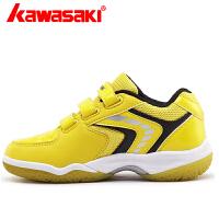 特价包邮kawasaki/川崎儿童羽毛球鞋男女青少年鞋K-11透气防滑运动鞋