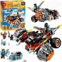 10352气功传奇赤马神兽虎参谋的双面黑火战车拼装积木玩具