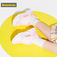 巴拉巴拉儿童运动鞋女小童鞋子2019新款夏季网面跑步鞋童鞋透气女