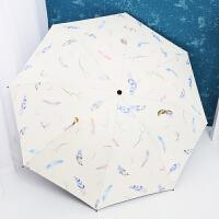 雨伞女晴雨两用韩版小清新折叠太阳伞黑胶防晒遮阳伞学生