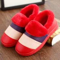 情侣棉拖鞋女冬季防水包跟居家用室内家居外穿月子棉鞋毛拖男冬天