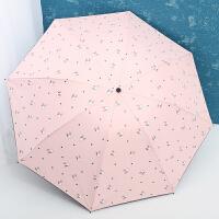 雨伞女晴雨两用简约森系韩版小清新太阳伞黑胶防晒遮阳伞