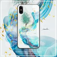 苹果x手机壳iPhone xs新款max玻璃8plus男女xr潮牌iphonex高档7plus硅胶6splus防摔网红