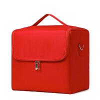 化妆箱收纳多层大号化妆包手提美甲纹绣美容跟妆多功能工具箱