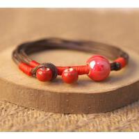 陶瓷饰品 釉瓷珠手链 男女款 多色