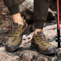夏季户外登山鞋男士舒适徒步鞋防滑运动休闲透气网面鞋