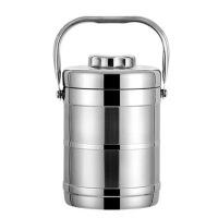 加厚双层不锈钢保温饭盒3层便当盒大容量提锅饭桶