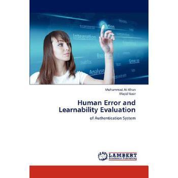 【预订】Human Error and Learnability Evaluation 美国库房发货,通常付款后3-5周到货!