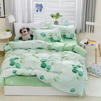 被套四件套棉1.5m2.0米被罩床单单人三件网红床上用品夏季k