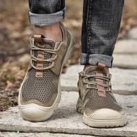 夏季户外登山鞋男透气网面轻便男士徒步鞋休闲运动鞋