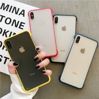 ins简约纯色磨砂iphone11promax苹果x手机壳xsmax硅胶轻薄7plus情侣8plus无边框个性6s p