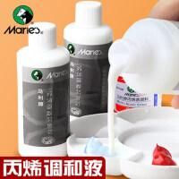 马利丙烯颜料专用调和液水粉稀释剂100ML美术用品丙烯画调料媒介物液态流体绘画助流材料增加耐晒度
