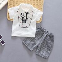 男童夏装婴儿童短袖t恤两件套宝宝夏季套装
