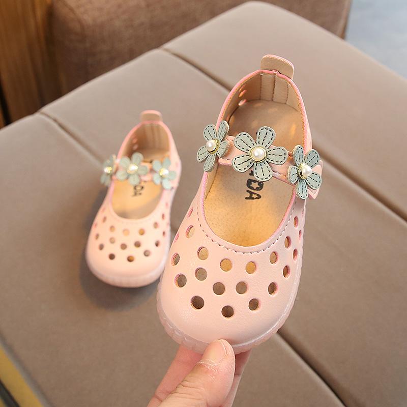 儿童鞋小女孩凉鞋宝宝春夏季1-2-3岁半软底女童皮鞋公主学步鞋子