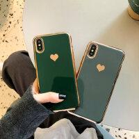 电镀爱心简约苹果11pro手机壳8plus情侣款iPhone x硅胶xs max/xr全包软壳6splus保护套6s男个