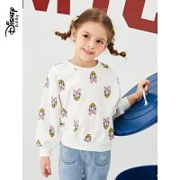 【2件3折价:59.7】迪士尼童装2020春装新款儿童上衣女童休闲套头衫宝宝可爱卡通卫衣