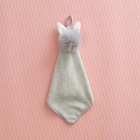 太阳花宝宝擦手巾挂式可爱韩式卡通儿童厨房擦手毛巾吸水擦手布y 40x21cm